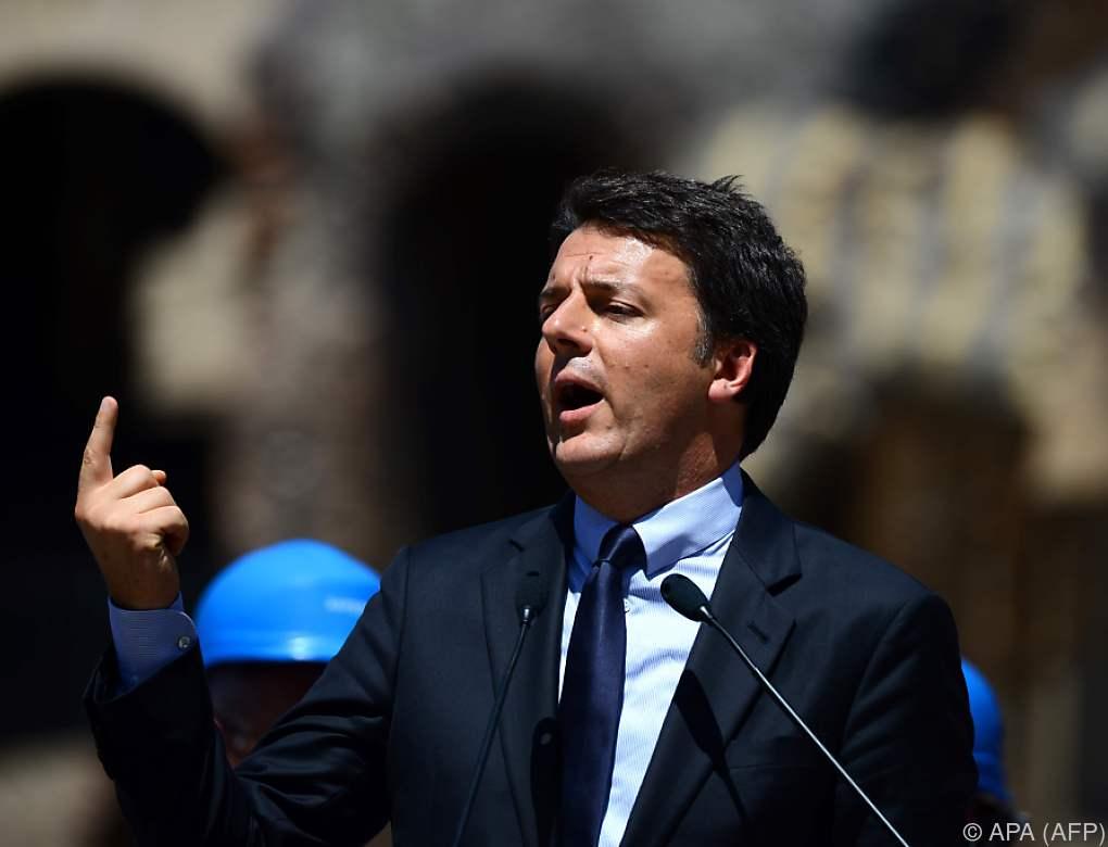 Defizit-Streit mit der EU: Renzi bleibt hart