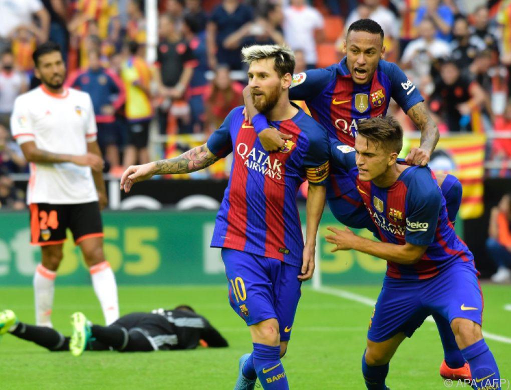 Barcelona feierte in Valencia Last-Minute-Sieg