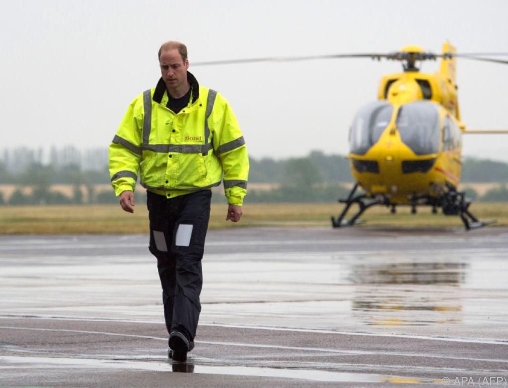 Prinz William gibt Job als Hubschrauberpilot auf