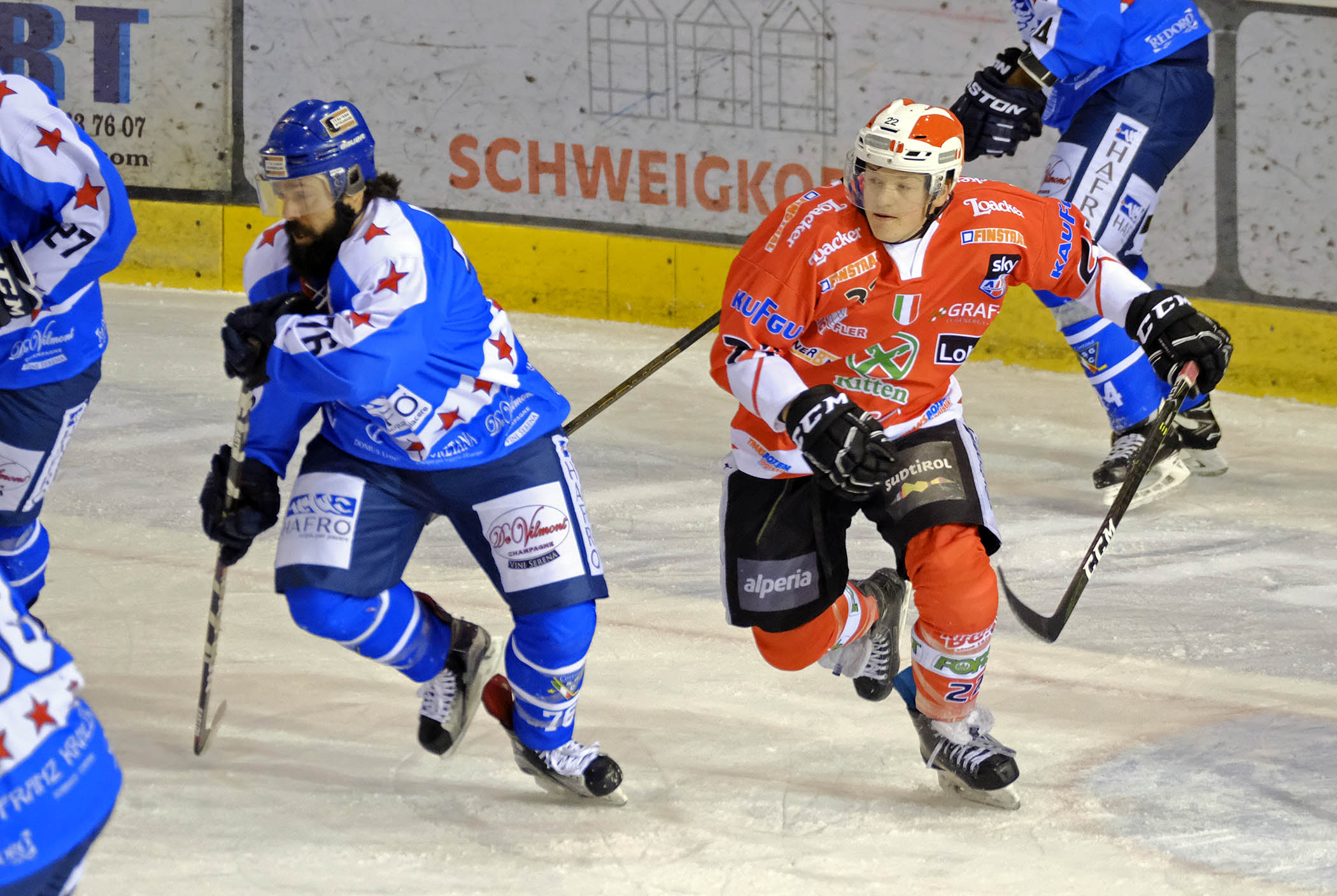 Max Pattis/Sky Alps Hockey League Playoff HF 1 Rittner Buam - SG Hafro Cortina 2-4