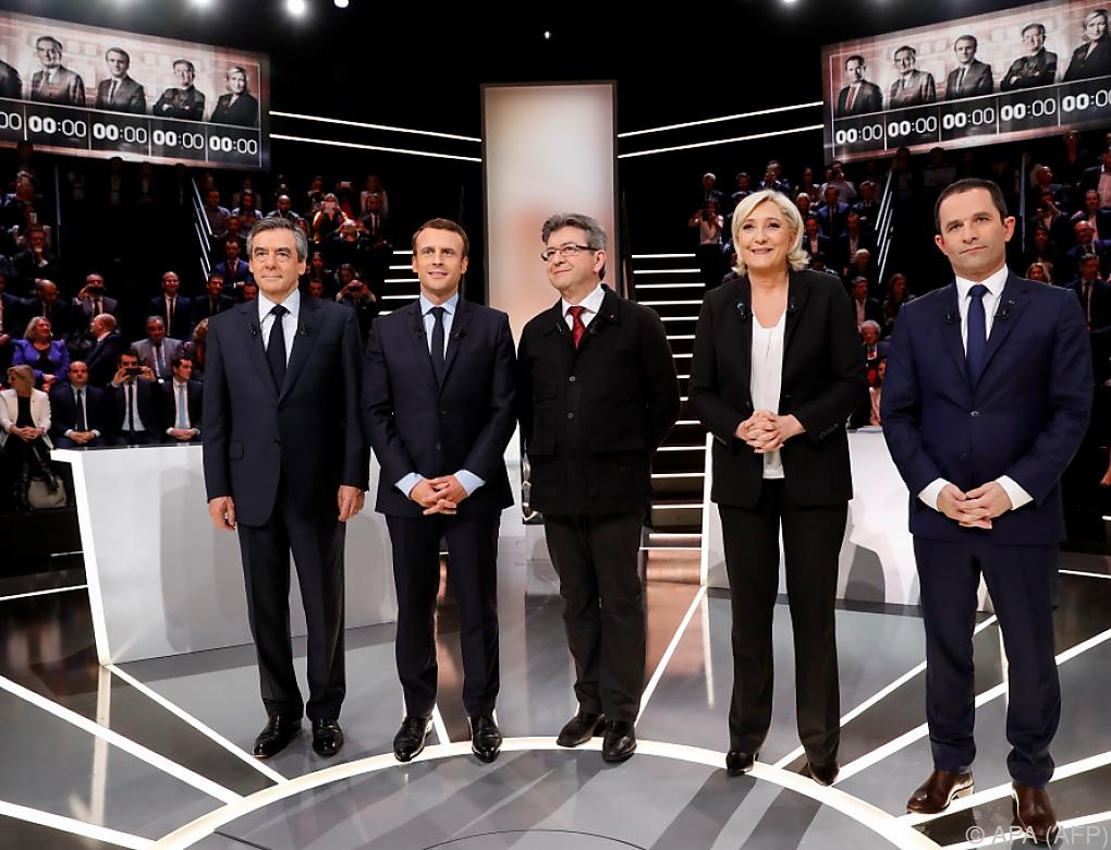 Frankreich: Erste TV-Debatte der Präsidentschaftskandidaten