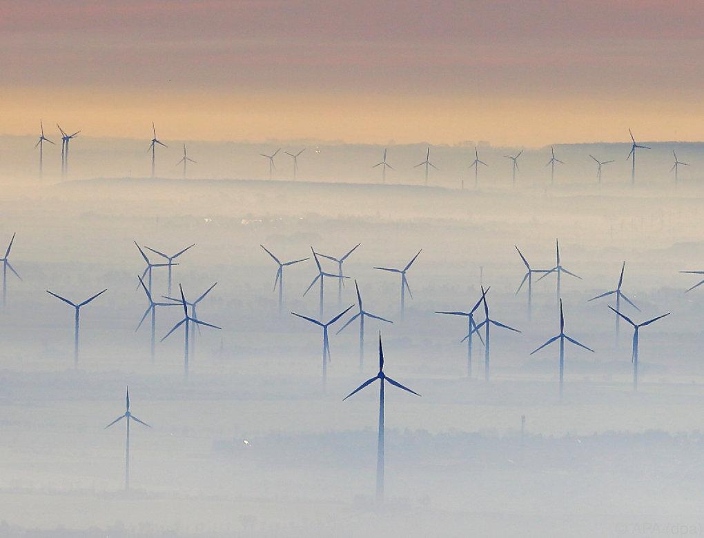 Österreich bei Strom aus Windkraft unter EU-Durchschnitt
