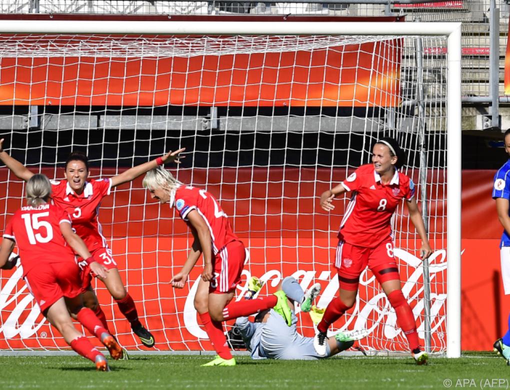 Russland schlug bei Frauen-Fußball-EM Italien 2:1