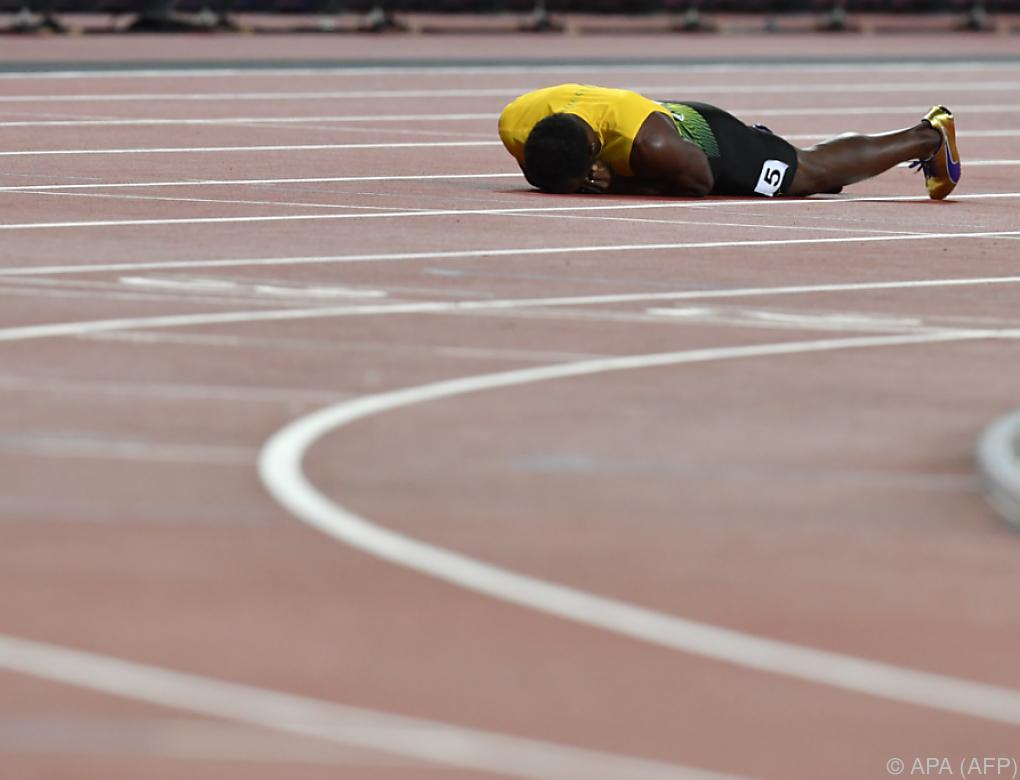 Superstar Bolt stürzte bei Karriereende im WM-Staffelbewerb