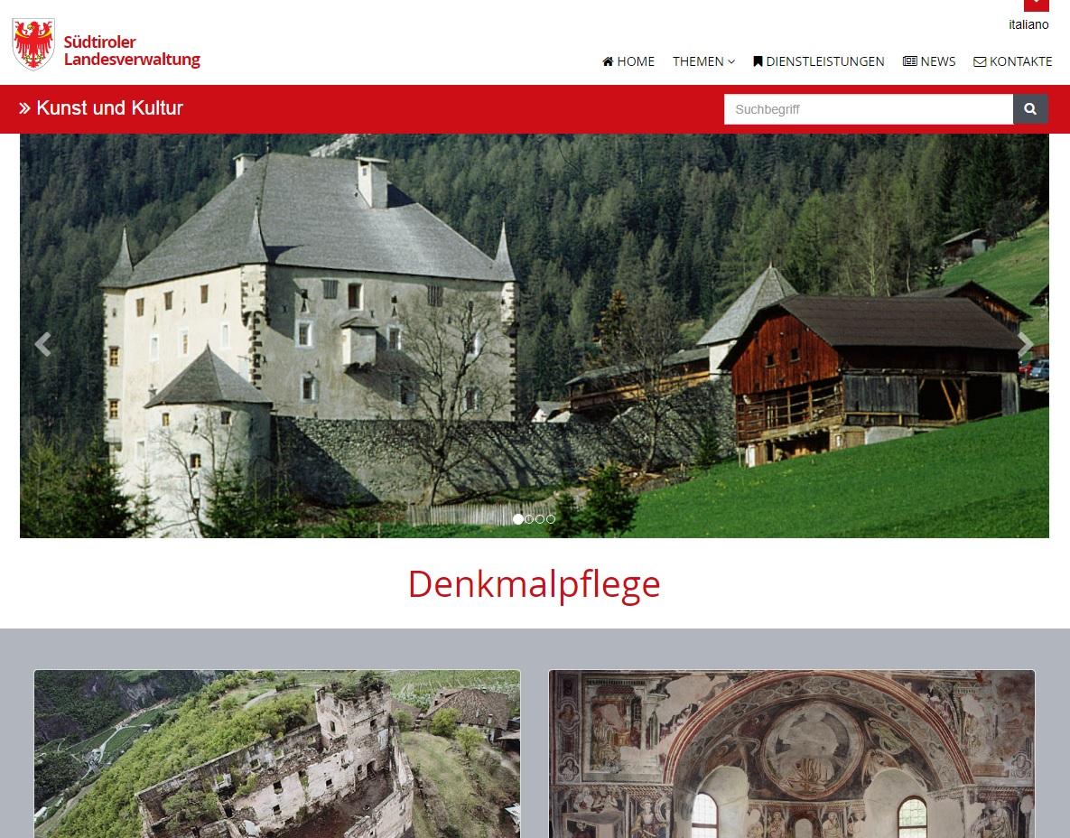 Neuer Webauftritt für die Denkmalpflege