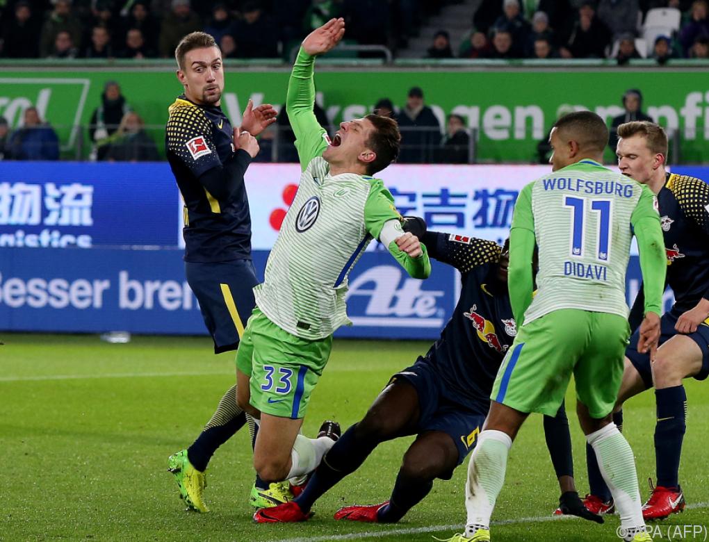 Leipzig musste sich in Wolfsburg mit 1:1 zufriedengeben