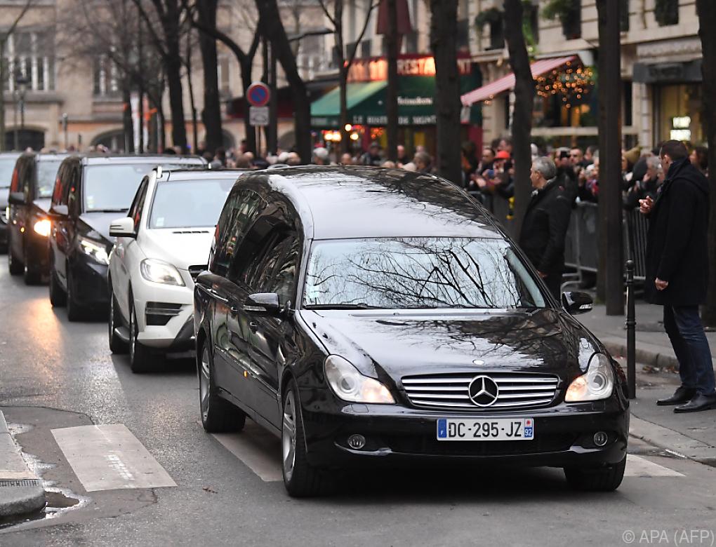 Französische Sängerin France Gall in Paris beigesetzt