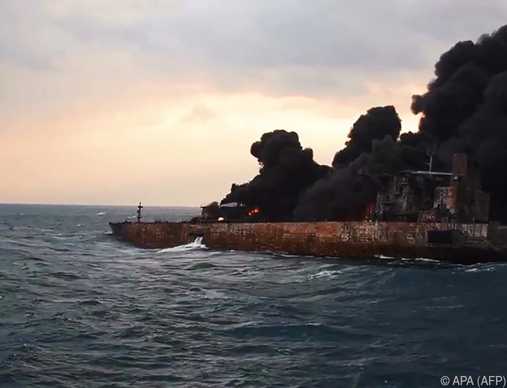Weitere Explosion auf brennendem iranischen Öltanker