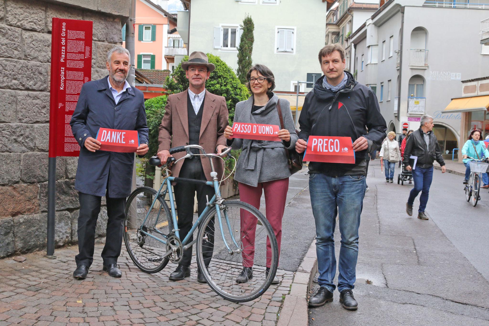 Meran setzt auf mehr Respekt im Rad- und Fußverkehr