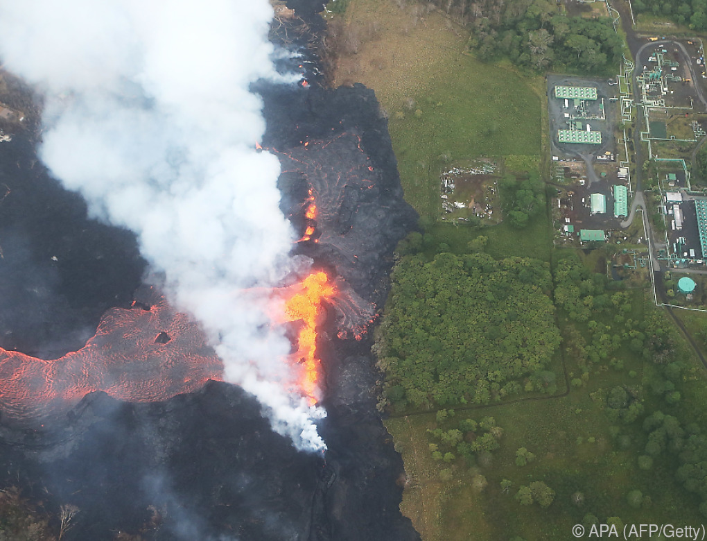 Lava des Vulkans Kilauea näherte sich Kraftwerk auf Hawaii