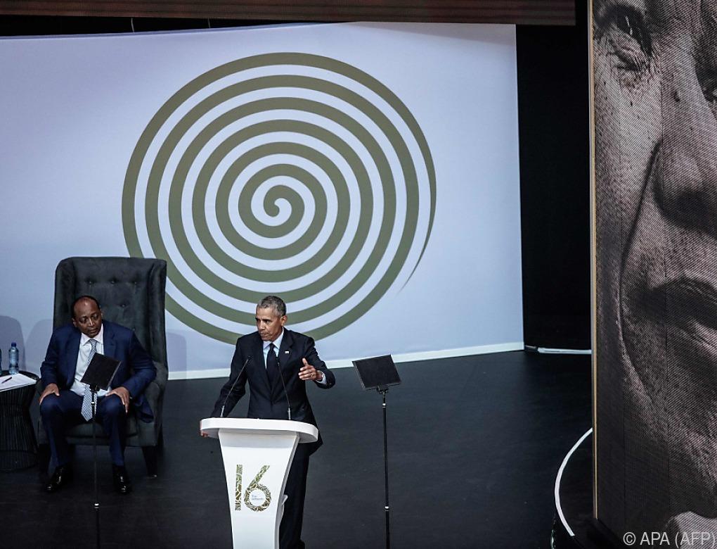 Obama fordert Kampf gegen Diskriminierung im Geiste Mandelas