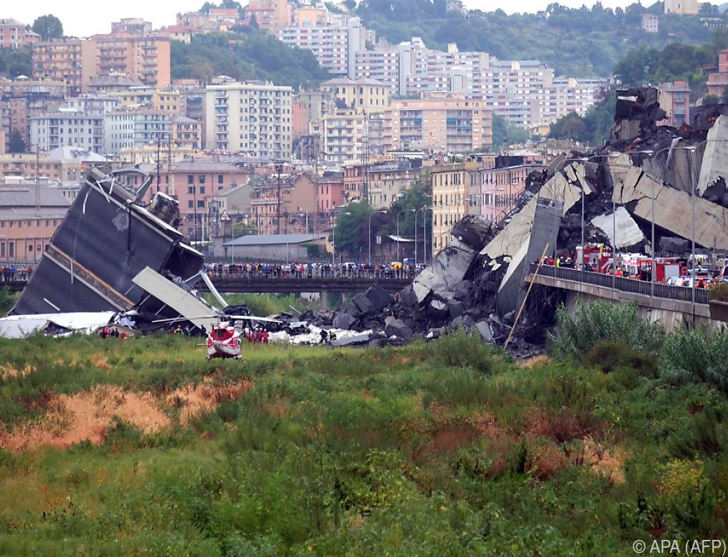 35 Tote bei Einsturz einer Autobahnbrücke in Genua