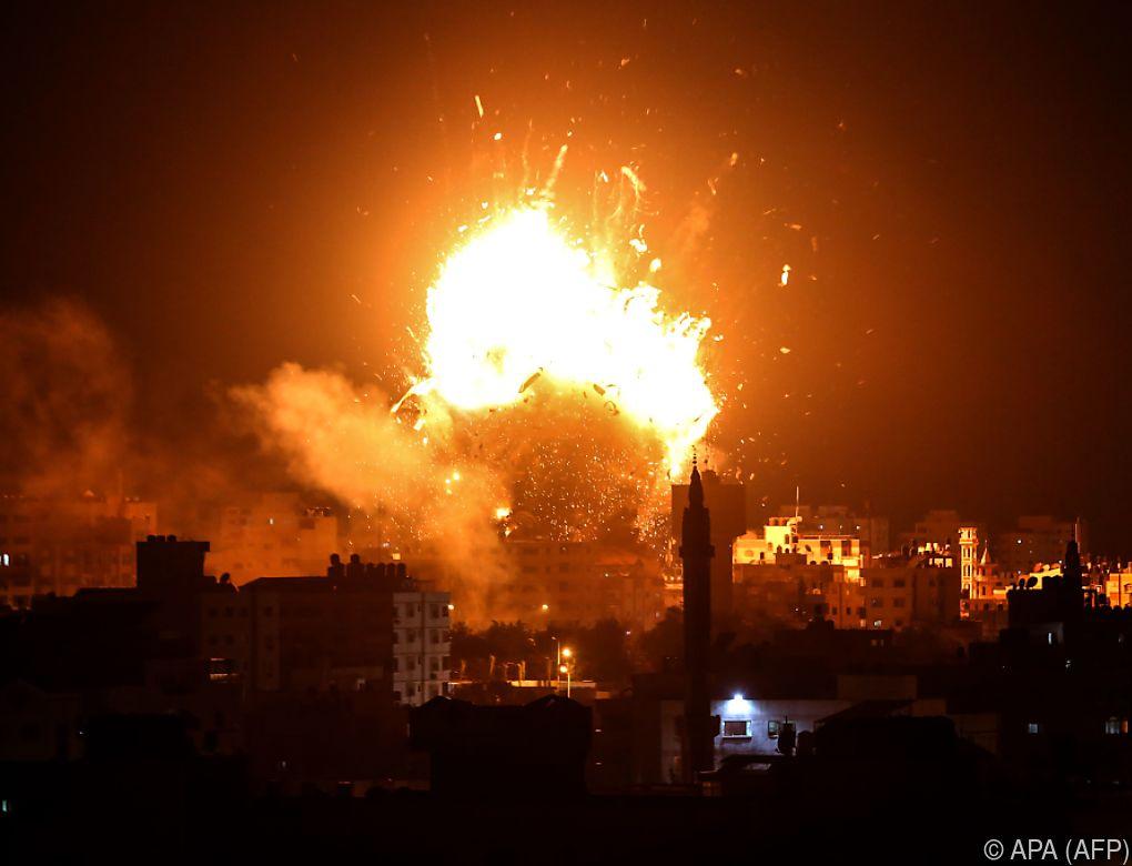 Israel bombardierte Fernsehsender der Hamas im Gaza-Streifen