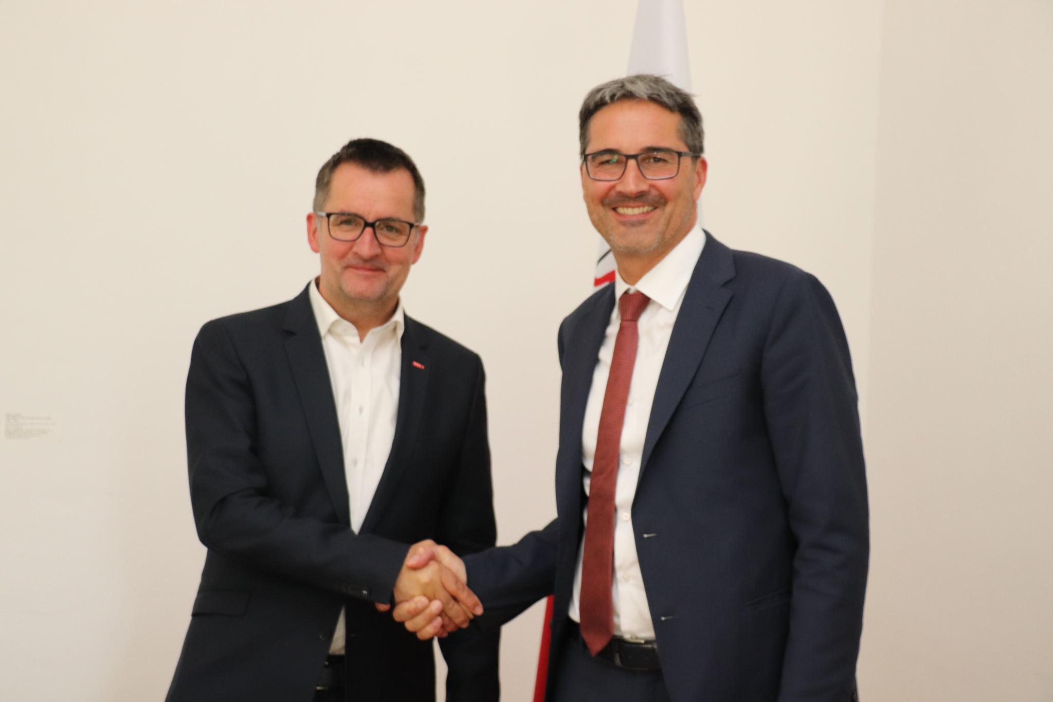 Neuer ORF-Tirol-Direktor Unterweger bei LH Kompatscher