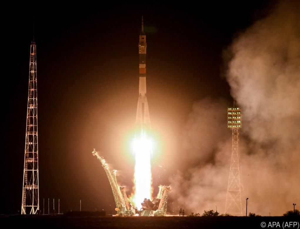 Drei Raumfahrer starteten zur ISS-Mission