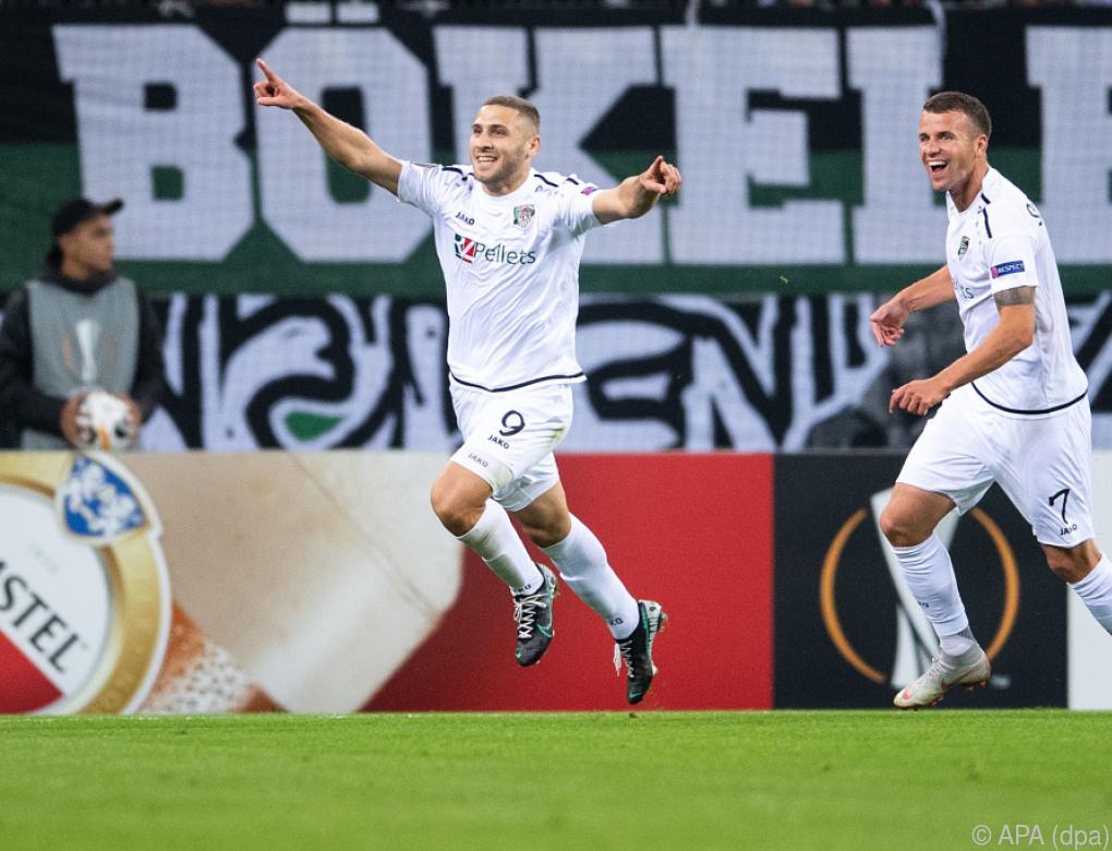 WAC überraschte in Europa League mit 4:0-Sieg bei Gladbach