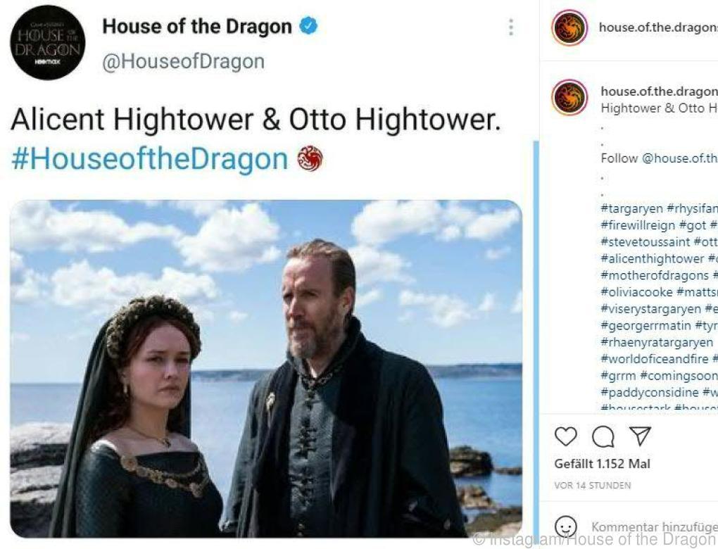 "Erste Bilder vom ""GoT""-Ableger ""House of the Dragon"""