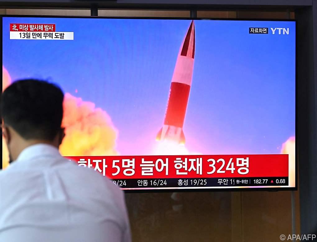 Nordkorea feuerte offenbar Kurzstreckenrakete ab